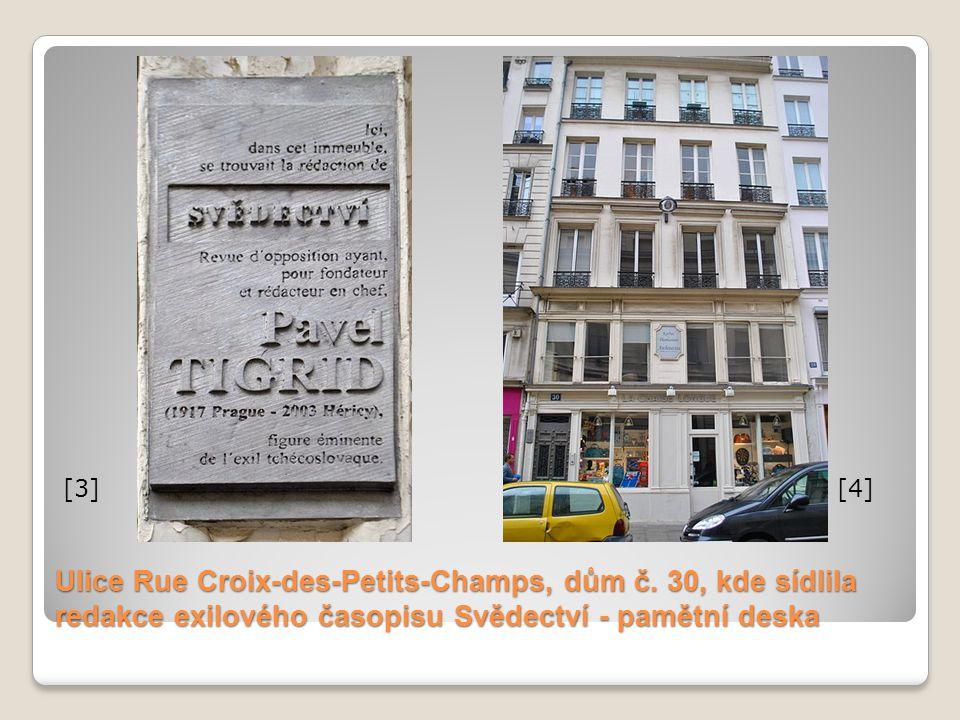[3] [4] Ulice Rue Croix-des-Petits-Champs, dům č.